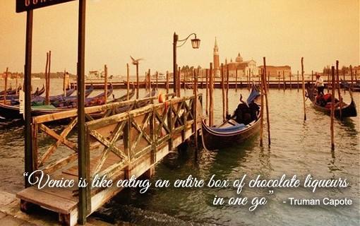 Venice with gondola