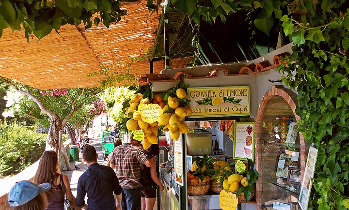 lemon granita stand